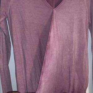 American Eagle Outfitters Tops - AMERICAN EAGLE washed lavender shirt